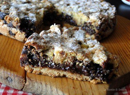 Torta Sbrisolona alla Nutella senza uova, lievito e burro