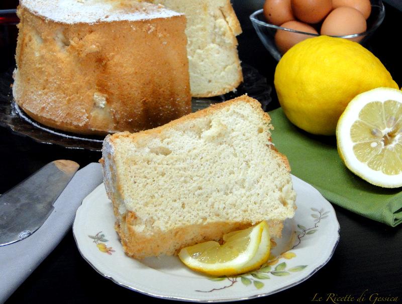 chiffon cake ciambella americana alta e soffice limone