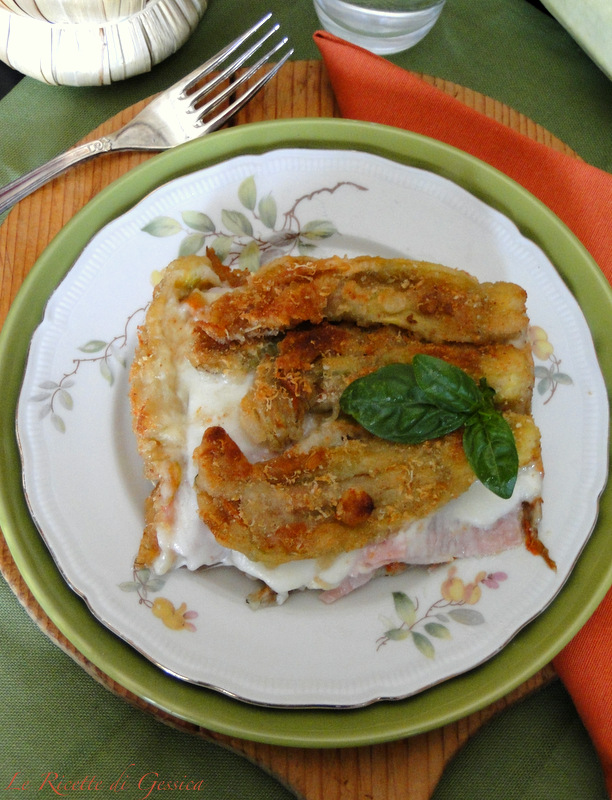 parmigiana di fiori di zucca zucchina al forno gratinati