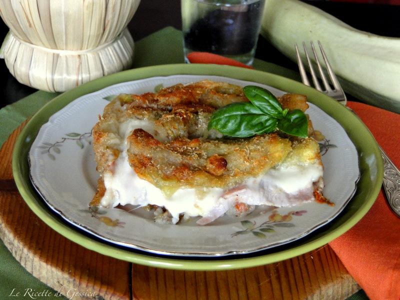 parmigiana di fiori di zucchina al forno filanti