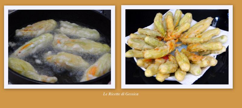 parmigiana di fiori di zucchina pastellati
