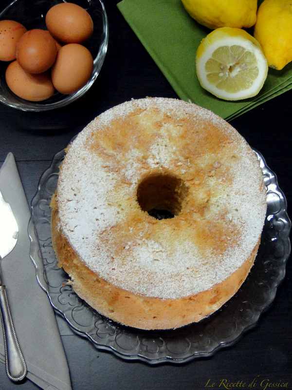 torta chiffon cake ciambellone americano limone