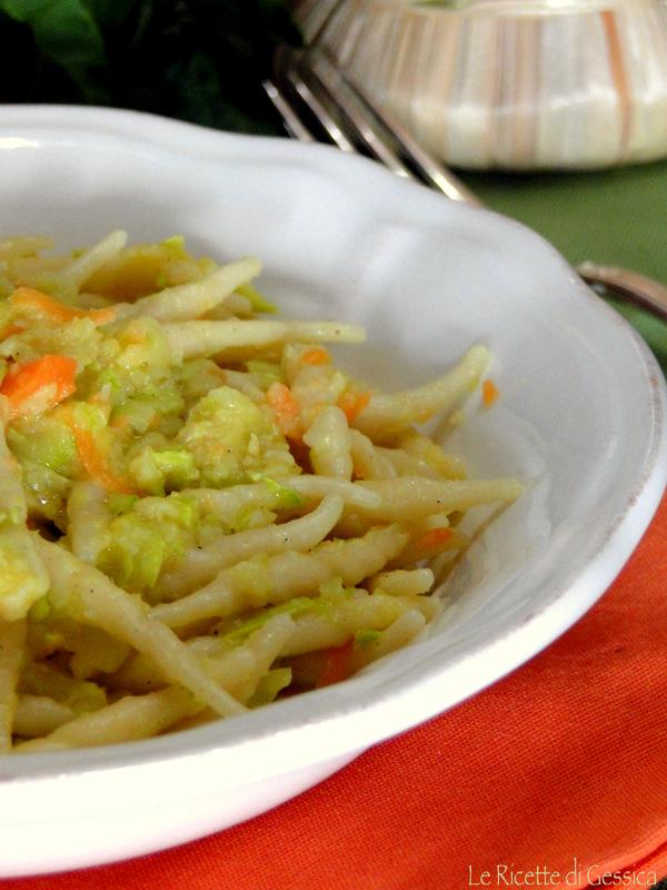trofie pasta zucchine e carote