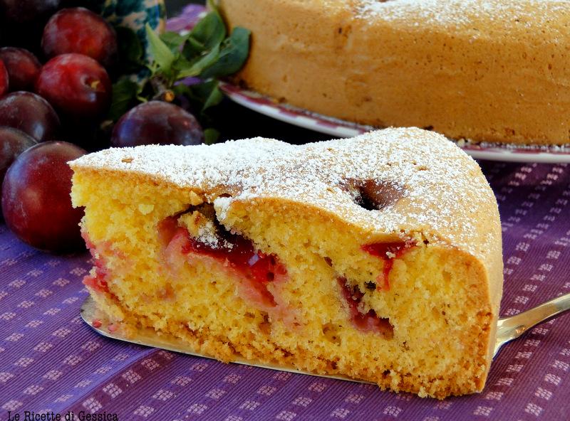 Torta soffice alle prugne ricetta anche bimby le for Bimby ricette dolci