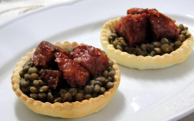 Cestini di lenticchie e cotechino - Secondo piatto