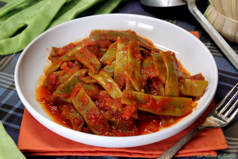 Fagiolini verdi Piattoni o Corallo al pomodoro