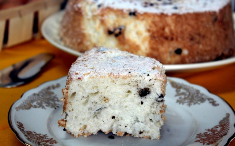 Angel food cake – Torta di soli albumi