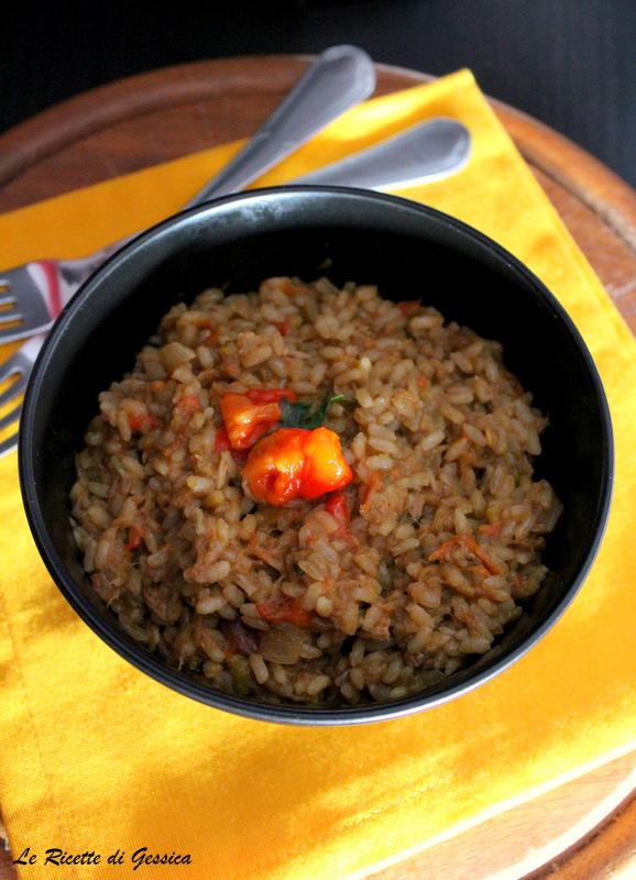 riso con peperoni e tonno ricetta bimby