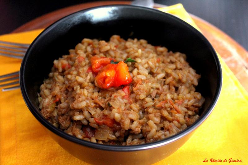 risotto con peperoni e tonno bimby
