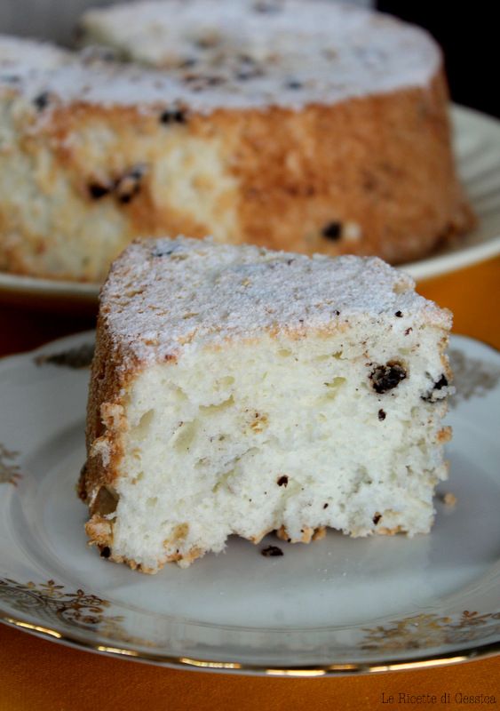 torta di soli albumi angel cake americana