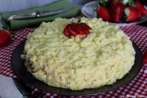 Torta Mimosa alle fragole e crema – Anche Bimby