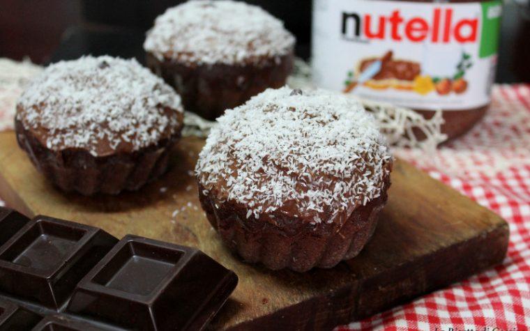 Muffin cioccolato Nutella e cocco – Ricetta anche Bimby