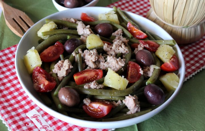 Insalata di fagiolini verdi con patate e tonno – Piatto freddo
