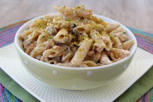 Pasta salmone, Philadelphia e pistacchio – anche Bimby
