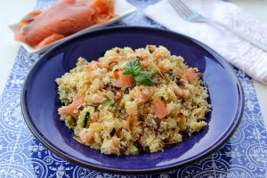 Cous cous con salmone e zucchine – Piatto freddo