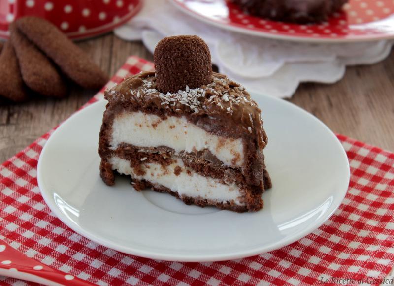 interno spumone gelato con biscotti nutella