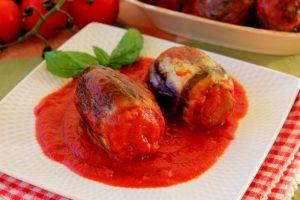 Melanzane ripiene messinesi al sugo – Ricetta Siciliana anche Bimby