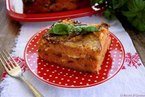 Timballo di riso con melanzane e mozzarella – Al forno