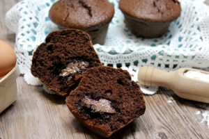 Muffin al cioccolato e Nutella – anche Bimby e Videoricetta