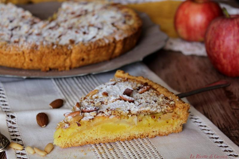 Crostata di mele e crema con crumble di mandorle anche bimby for Crostata di mele