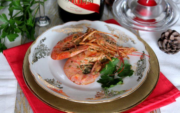 Gamberoni marinati al vino bianco – Cotti al forno