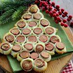 Albero di Natale di sfoglia e wurstel - Antipasto facile