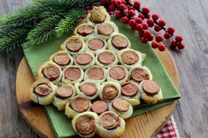 Albero di Natale di sfoglia e wurstel – Antipasto facile