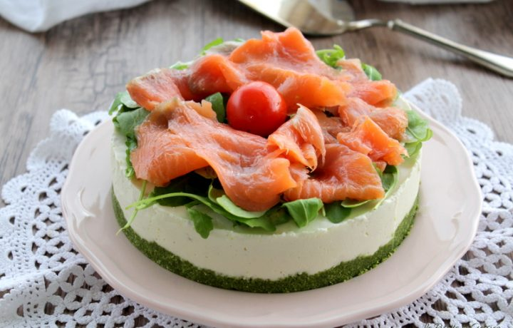 Cheesecake salata al salmone – anche Bimby