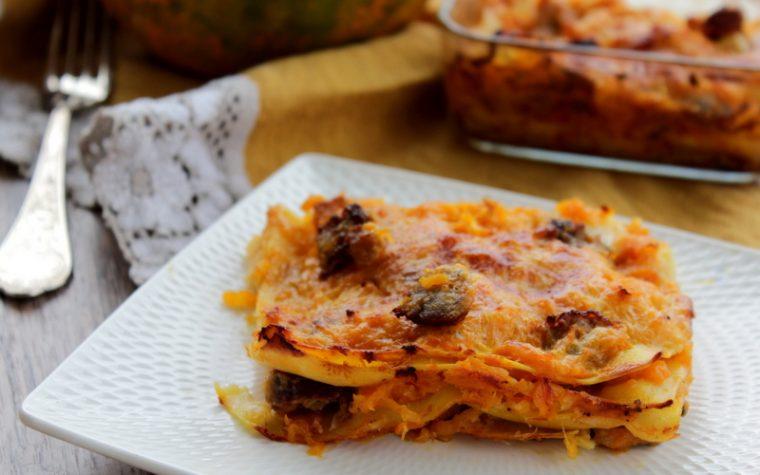 Lasagne alla zucca e salsiccia senza besciamella – Anche Bimby