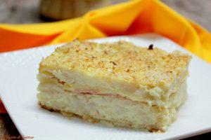 Tortino di cavolfiore con prosciutto e formaggio
