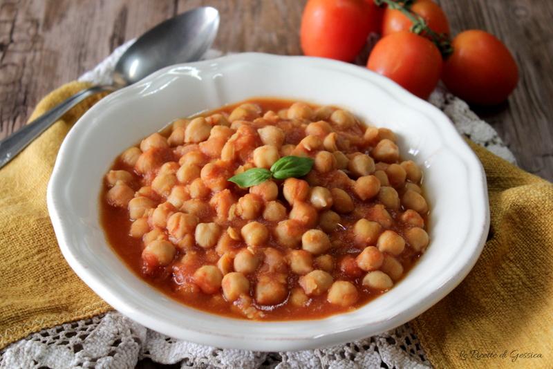 Zuppa di ceci al pomodoro - Anche Bimby