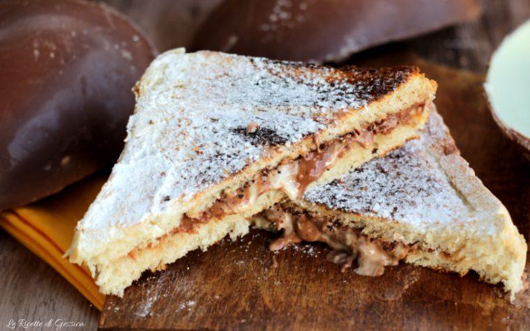 Toast al cioccolato ripieno di Uova di Pasqua - Dolce facile e veloce