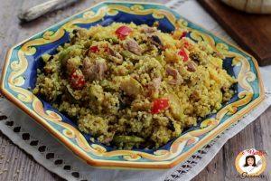 Cous cous con verdure grigliate e tonno alla curcuma