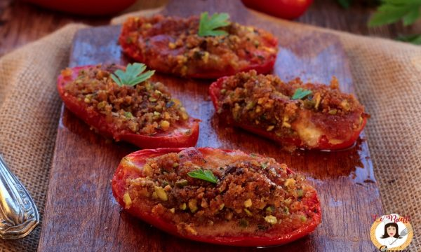 Pomodori ripieni gratinati – Alla Siciliana, ricetta anche Bimby