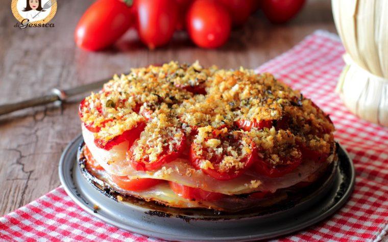 Patate alla lucana – Patate, cipolle e pomodori al forno