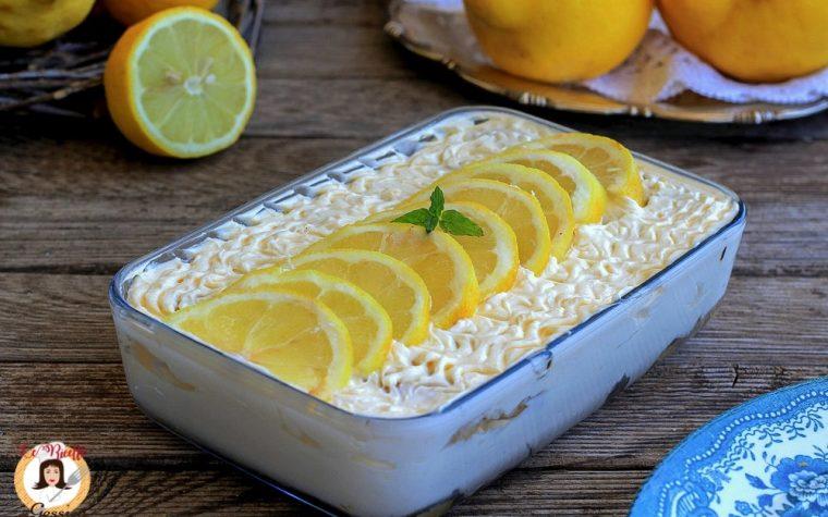 Tiramisù al limone con uova pastorizzate
