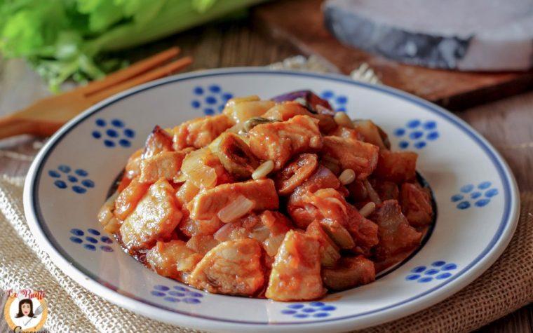 Caponata con pesce spada – Ricetta Siciliana