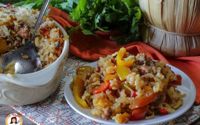 Risotto salsiccia e peperoni al forno – Con Video ricetta