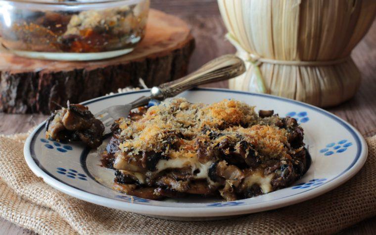 Parmigiana di funghi champignon