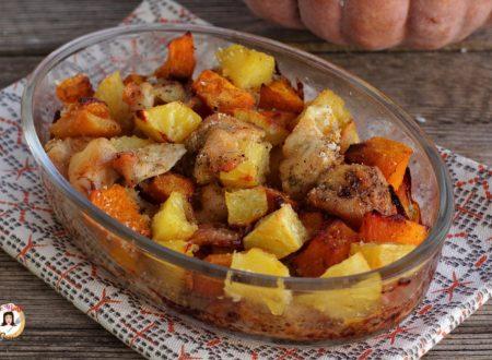 Pollo con zucca e patate - Cotto al forno