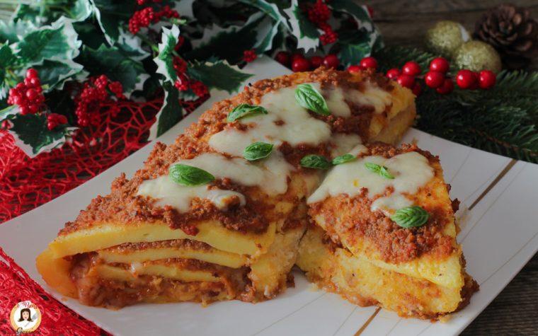 Tronchetto di Natale di polenta e ragù – Anche Bimby