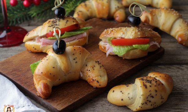 Cornetti salati da farcire per buffet o antipasto – Anche Bimby