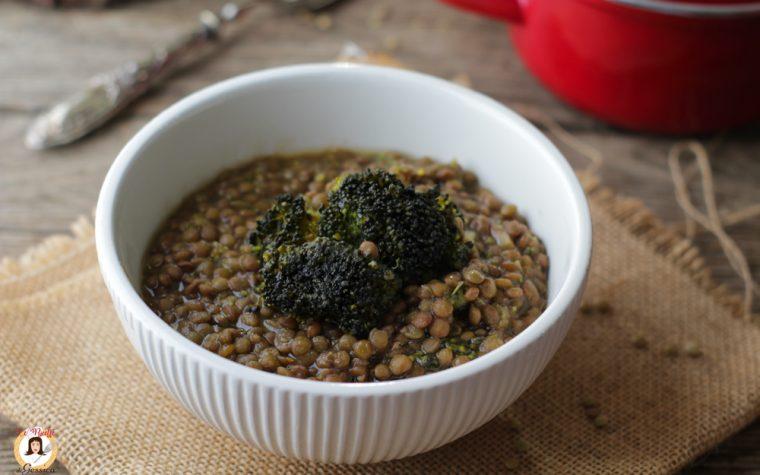 Minestra di lenticchie e broccoli – Anche con la Pasta