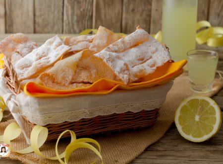 Chiacchiere al limone e limoncello – Anche Bimby