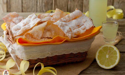 Chiacchiere al limone e limoncello - Anche Bimby
