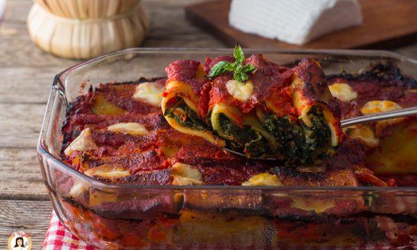 Paccheri ricotta e spinaci al sugo – Senza Besciamella