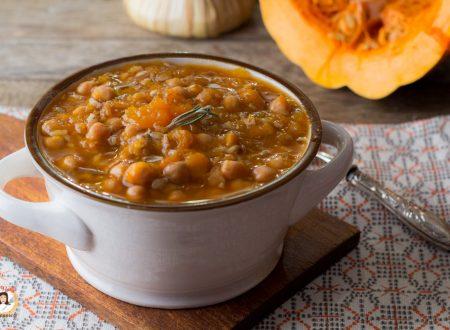 Zuppa di ceci zucca e farro – Cremosa e saporita
