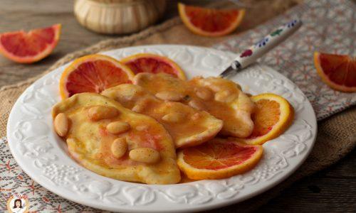 Pollo all'arancia e mandorle - In padella