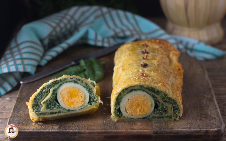 Rotolo torta Pasqualina - Ricetta di Pasqua