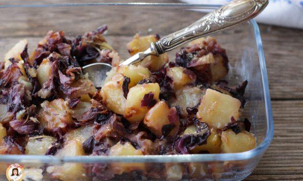Radicchio con patate e formaggio filante – Al forno o in padella